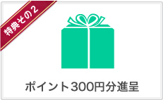 特典2 ポイント300円分進呈